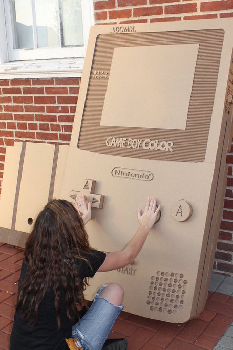 Cardboard Game Boy - MaboroshiTira | Matmi Staff finds... | Scoop.it