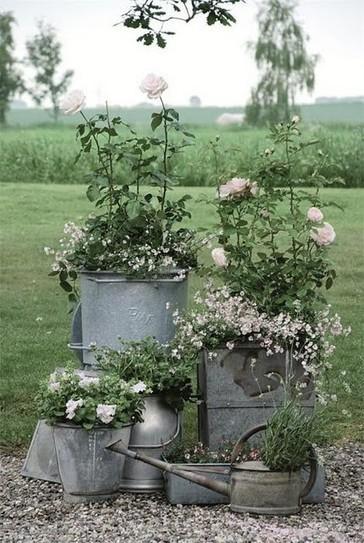 Galvanized container garden vingette | Upcycled Garden Style | Scoop.it