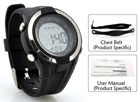 Heart Rate Monitor Watch with Chest Belt - EL Backlight, Sto | Best Deal on Gadgets & Electronics | Scoop.it