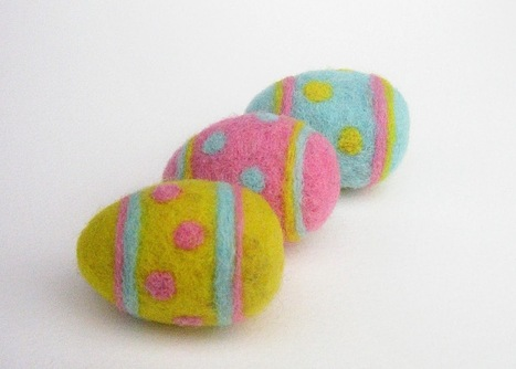 Green Dot Creations: Polka Dots Needle felted Easter eggs, Special Easter Offer | Needle felting art by Green Dot Creations' Studio! | Scoop.it