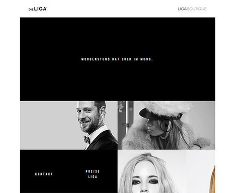 26 Amazing Examples Of Black And White Websites 2014 | Inspired By Design | Scoop.it