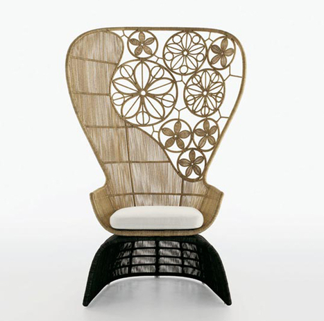 Aesthetic Chair Design for Artistic Home Outdoor Furniture, Crinoline by Patricia Urquiola, Aesthetic Contemporary « Furniture « Products « Design Images, Photos and Pictures Gallery « DesignWagen   Interesting Designs   Scoop.it