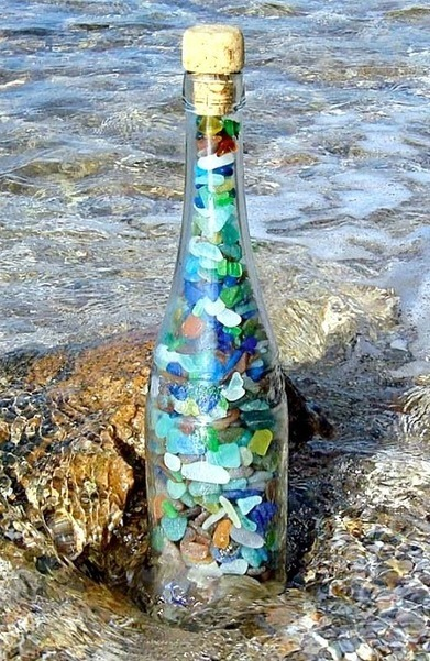 Top Decorating Ideas with Bottles | Recycling Bottles for Coastal & Beach Decor | Beachy Keen | Scoop.it