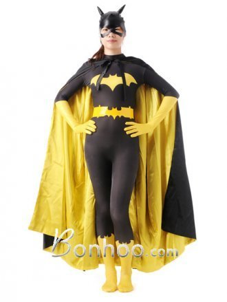 Spandex Yellow And Black Bat Woman Superhero Costume | New superhero costumes on bonhoo.com | Scoop.it