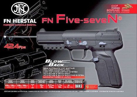 FN Herstal Five-SeveN Blow Back Co2 1J | Airsoft Rider Shop | Scoop.it