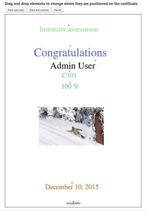 Create dynamic PDF certificates in Moodle using Custom certificate plugin #MoodlePlugins | Marks Moodle | Scoop.it