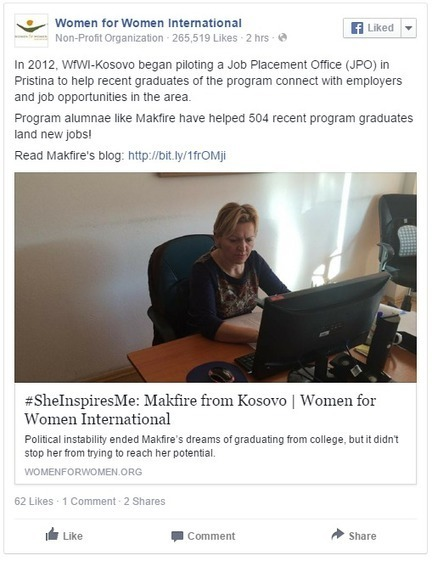 Nonprofit Storyteller of the Week - Women for Women International | Nonprofits & Social Media | Scoop.it