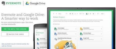Ya es posible integrar archivos alojados en Google Drive en notas de Evernote | Recull diari | Scoop.it