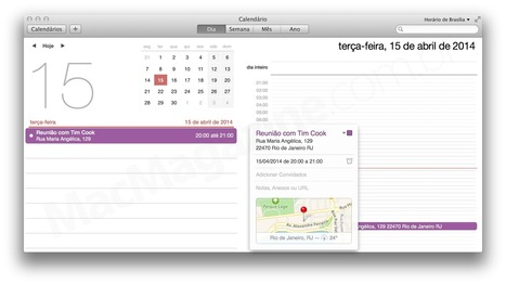 Tutorial: como aproveitar a integração entre os apps Calendário e Mapas no OS X Mavericks | Apple Mac OS News | Scoop.it