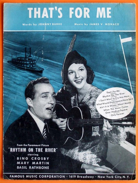 Vintage 1940 - Thats For Me - Sheet Music - Bing Crosby - Mary Martin | Daily Paper | Scoop.it