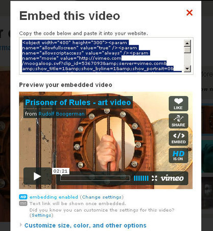 How to embed videos from Vimeo on your site – revised | Miracle Tutorials | TEFL & Ed Tech | Scoop.it