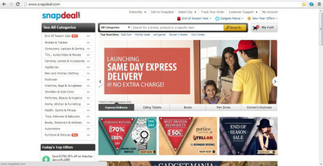 eBay-Backed Snapdeal Introduces Same-Day Delivery In India | TechCrunch | Ecommerce logistics and start-ups | Scoop.it