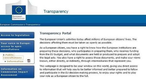 European Commission launches new Transparency portal | eParticipate! | Scoop.it