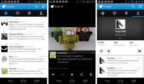 Twitter, l'interface Holo est au rendez-vous avec la 4.0   Android's World   Scoop.it