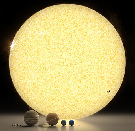 Spectacular rendering of the solar system to scale | Interests | Scoop.it