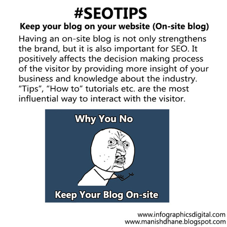 SEO Tips - Keep Your Blog On Your Website | Social Media and Internet Marketing | Scoop.it