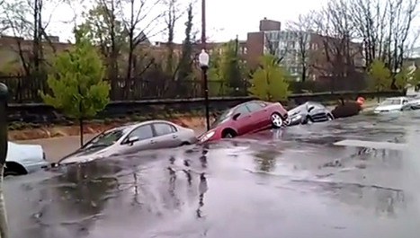 Cars Swallowed By Giant Sinkhole In Baltimore: Video - Motor Authority | Geography | Scoop.it