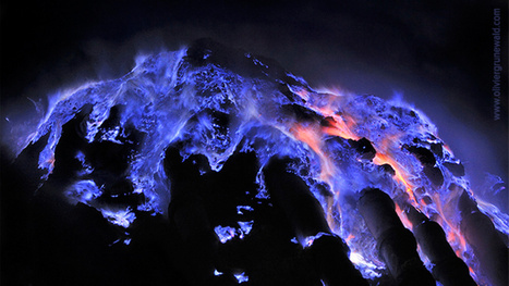 Spectacular blue lava flows in Indonesia | Geology | Scoop.it