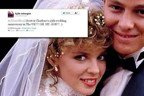 Kylie tweets Jason Donovan on 25th anniversary of Charlene and Scott wedding | On My Front Porch | Scoop.it