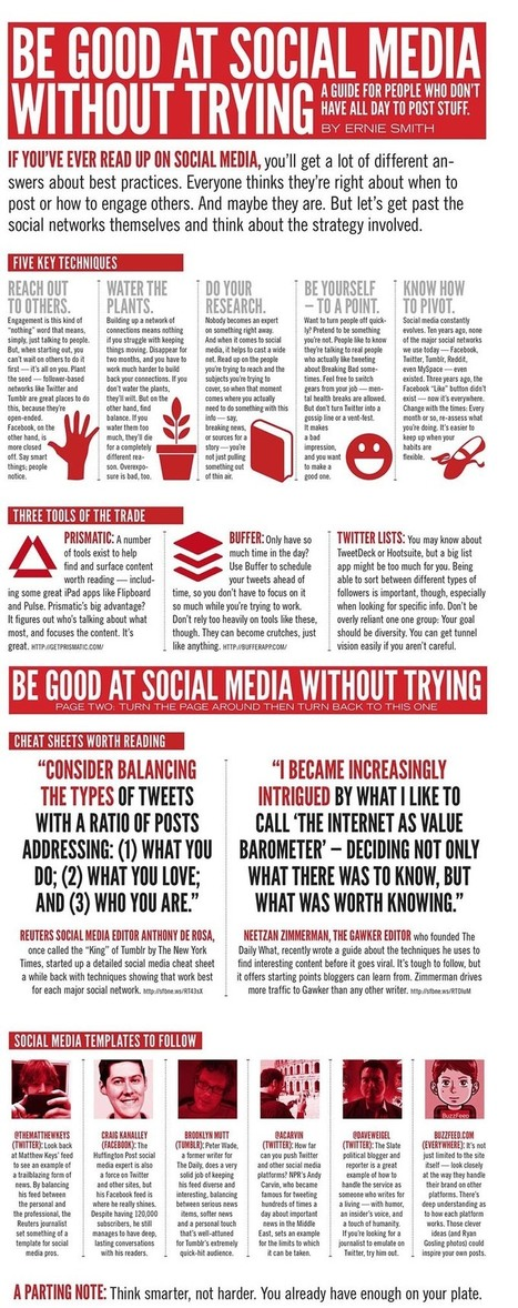 How to be good at social media without having to try [infographic] | The Wall Blog | Social Media Epic | Scoop.it