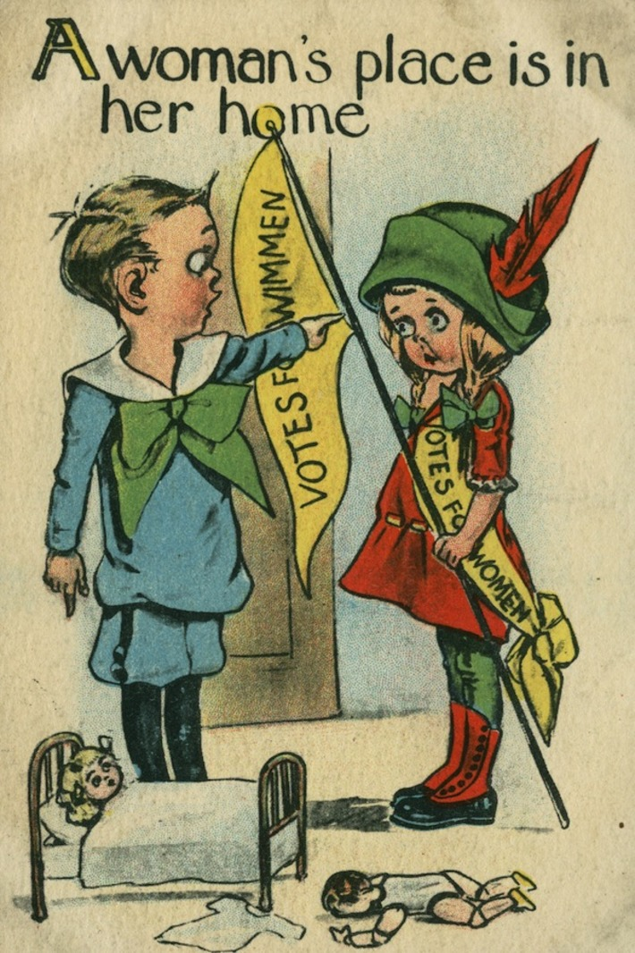 War on Women, Waged in Postcards: Memes From the Suffragist Era | Antiques & Vintage Collectibles | Scoop.it