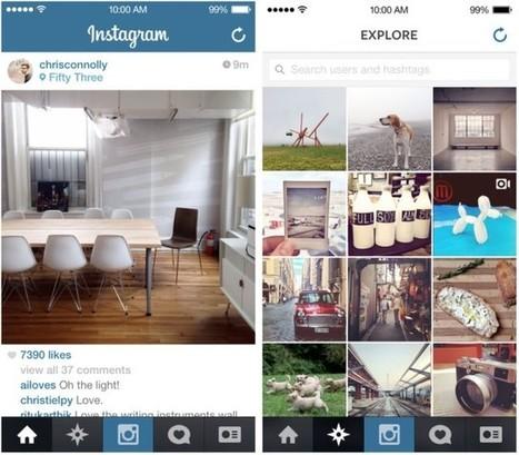 Instagram para iOS 7 ya está disponible con interfaz rediseñada | Informatica | Scoop.it