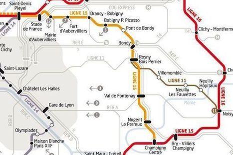 Grand Paris Express :  La ligne Saint-Denis - Champigny validée | Le Grand Paris des transports et des territoires | Scoop.it