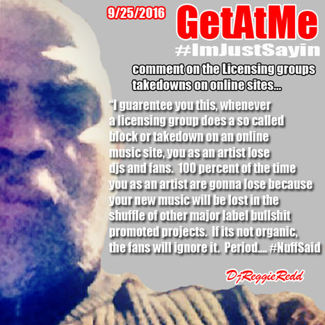 GetAtMe #ImJustSayin When licensing groups do online music site blocks, you as an artist lose... #ItsYourCareer   GetAtMe   Scoop.it