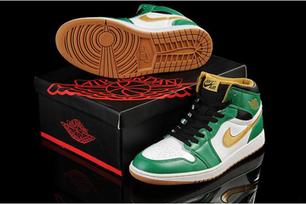 Air Jordan 1 Retro High Og Nike Men Sport Sneakers Clover/Metallic Gold/White/Black | popular list | Scoop.it