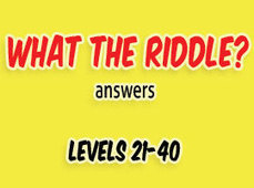 What the Riddle Answers Level 21 to 40 | Game solver | Scoop.it
