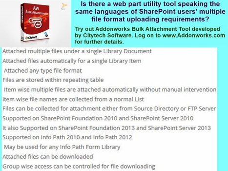 Automation in Bulk File Attachment Requirement of SharePoint Users | Addons and Web-parts | Scoop.it