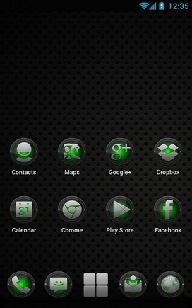 Next Launcher Black Green v1.0 | ApkLife-Android Apps Games Themes | Android Applications And Games | Scoop.it