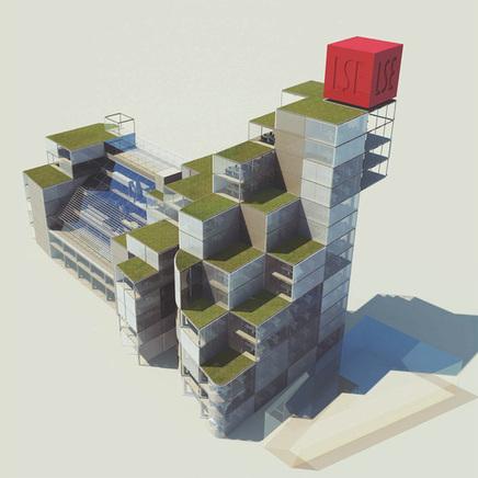 Centre des sciences sociales de Londres : des images de concours, des finalistes. Qui a fait quoi ? | Architecture pour tous | Scoop.it