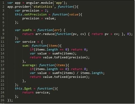 Angular JS–Part 13, Services | Gabriel Schenker's Blog - LosTechies | Angularjs | Scoop.it
