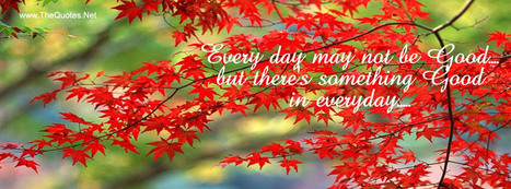 Facebook Cover Image - Something Good in everyday - TheQuotes.Net | Facebook Cover Photos | Scoop.it