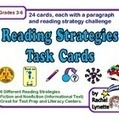 Reading Strategies Task Cards - 24 FREE Paragraph Cards | 4th Grade Language Arts | Scoop.it
