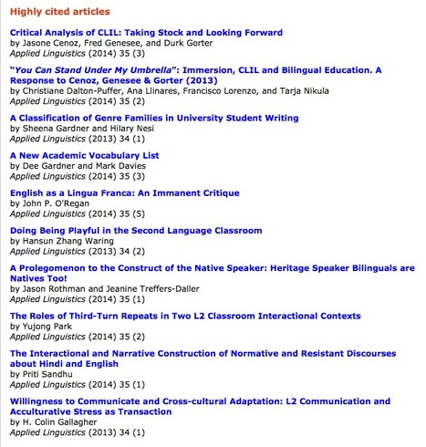 Applied Linguistics | Highly Cited Articles | TELT | Scoop.it