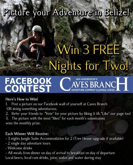 Caves Branch Free Vacation Contest | all inclusive vacation | Scoop.it