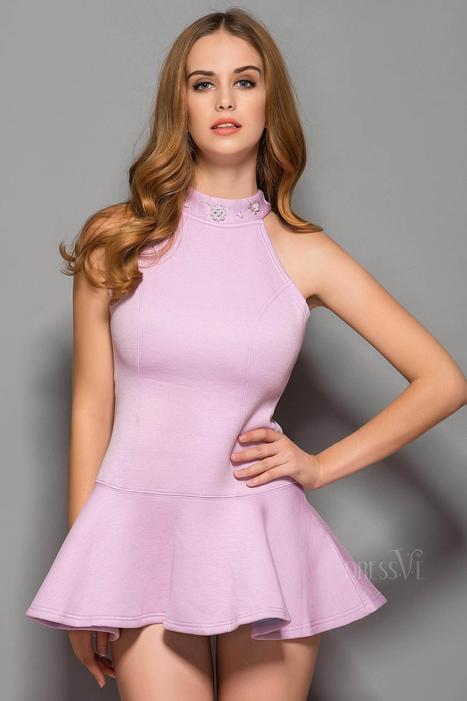 New Backless Beaded Falbala Hemline Sexy Dress   Fashion Zone   Scoop.it