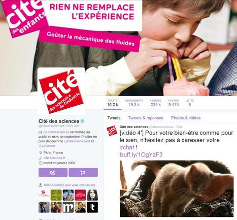 11,5% de croissance du nombre d'amis en un mois et 485,6% de croissance en un an pour le compte twitter de la Cité des sciences et de l'industrie   Clic France   Scoop.it