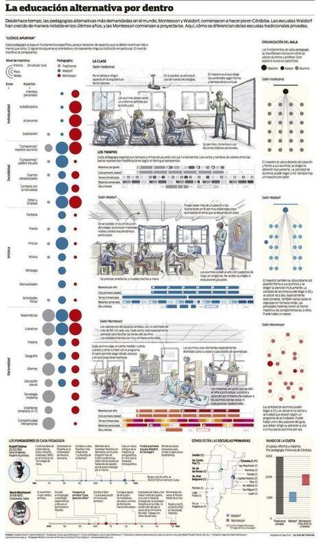 Educación Tradicional, Waldorf y Montessori - Por Dentro | Infografía | Educacion, ecologia y TIC | Scoop.it