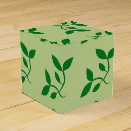 Green Decorative Vine Favor Boxes