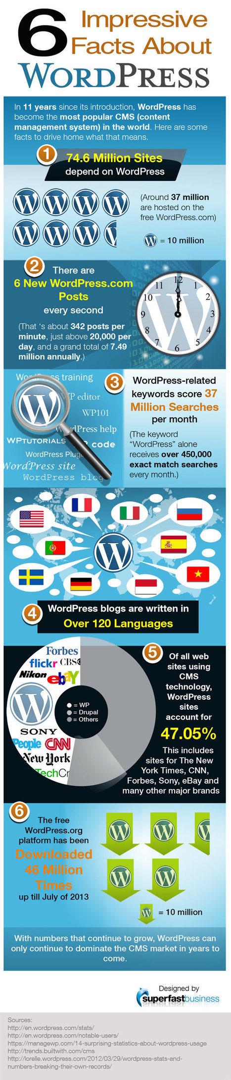 6 impressive facts about WordPress CMS Weblog | Marketing in Geneva | Scoop.it