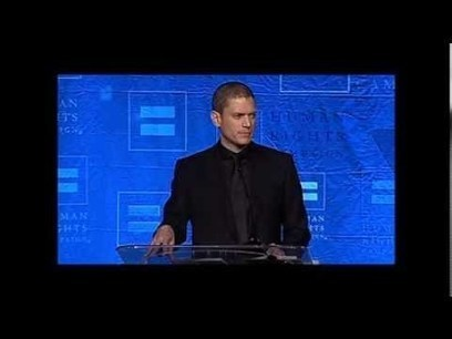 Wentworth Miller Talks About Coming Out, Overcoming Struggles at HRC Dinner - YouTube | English Language Learning | Scoop.it