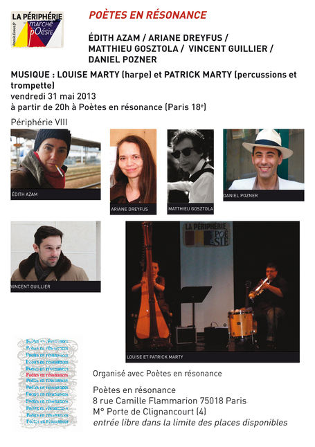 Azam, Dreyfus, Gosztola, Guillier, Pozner, le 31 mai 2013, Paris | Poezibao | Scoop.it