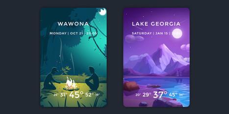Inspiration pour les intégrateurs #74 : Le temps et la météo | Web Increase | Scoop.it