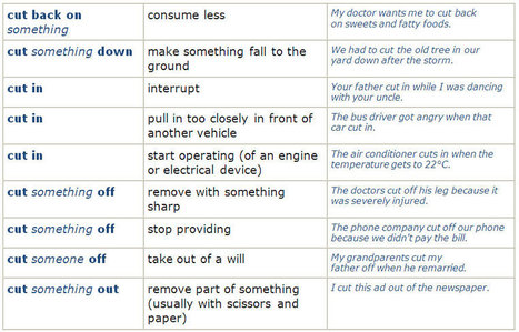 Useful Phrasal Verbs (check, come, cut) | English | Scoop.it