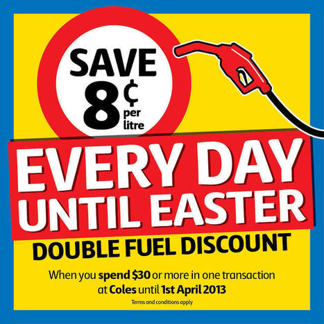Coles > Stores & Services > Easter Fuel Offer   Electric Vehicles: free to drive   Scoop.it