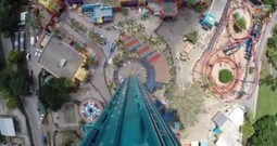 60MPH Face Down Roller Coaster Falcons Fury (video) | HighTechPoint | Scoop.it