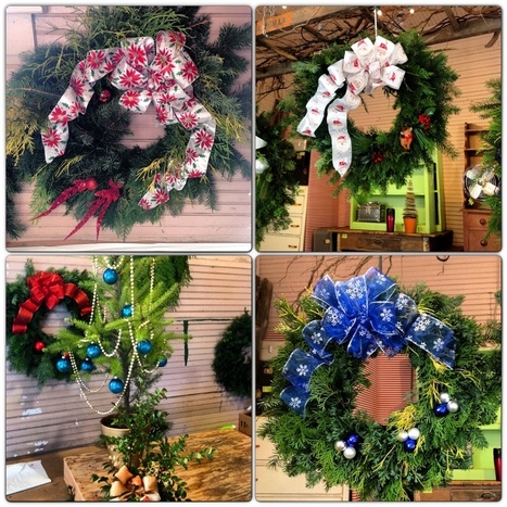 Central Valley Garden Club members have been busy all week making and decorating Holiday decorations for the sale this week. | Holly & Ivy - Holiday Cheer & Recipes | Scoop.it